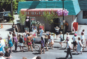 The first Burger Inn on the first Lilac Day Festival